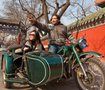 Beijing Sideways offers sidecar touring in and around Beijing. // © 2012 Beijing Sideways