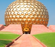 The Matrimandir is Auroville's meditation hall. // © 2012 Thinkstock