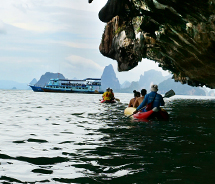 Guests can experience the beauty of Phang Nga Bay with tour operator Sea Cave Canoe.  // (c) 2013 Deborah Dimond