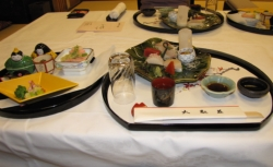 The massive dinner served by the Atami Taikanso Ryokan included a sampling of the local Tangerine Wine // (c) 2009 Monica Poling