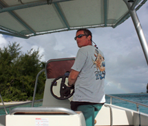 Laurent Graziana owns Diveasy, which offers snorkeling and diving excursions in Bora Bora. // © 2012 Mindy Poder