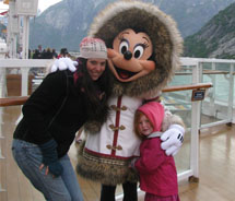My daughter and I onboard the Disney Wonder // © 2011 Janeen Christoff
