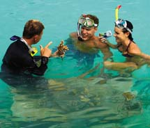 The Four Seasons Resort Bora Bora offers complimentary snorkeling tours to guests.  // © 2010 John Russo