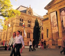 One of the best ways to explore Adelaide is on foot. // © 2011 SATC/Adam Bruzzone