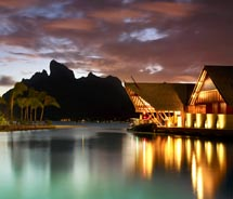 Guests arrive at the Four Seasons Bora Bora via private yacht. // © 2011 Four Seasons Bora Bora