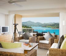 Suites offer a large living area and beautiful views. // © 2011 Hamilton Island