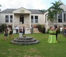 Agents enjoying a Chukka Caribbean Adventures' cocktail reception on the grounds of the Good Hope Estate, during the 21st annual Jamaica Product...