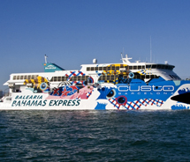 The Balearia Bahamas Express will travel between Miami and Freeport Harbour, Grand Bahama Island. // © 2011 Balearia Bahamas Express