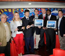 The Balearia Bahamas Express plaque exchange ceremony // (c) 2012 sm