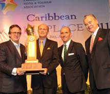 David Dodwell, owner Nisbet Plantation Beach Club in Nevis and The Reefs Hotel & Club in Bermuda, was named Caribbean Hotelier of the Year....