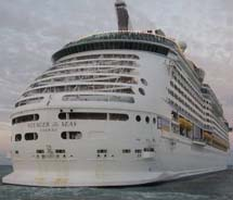 Royal Caribbean International's Voyager of the Seas was the first to call at Jamaica's Historic Falmouth Cruise Port on Feb. 17. // © 2011 Jamaica...