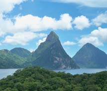 A scenic view of St. Lucia // © 2011 Sophy Farnad
