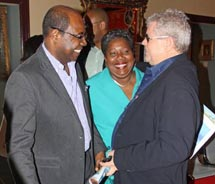 From left to right: Jamaica's Minister of Tourism Edmund Bartlett; <br />Carrole Guntley, director general in the Ministry of Tourism; and Gordon...