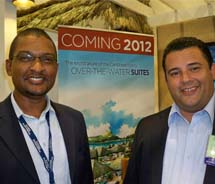Wayne Cummings (left), president of Jamaica Hotel & Tourist Association, and Carl Beviere, general manager of Sandals Resorts // © 2011 Mark...