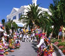 Clients can see free performances of Bermuda's Gombey dancers as part of the Bermuda Rendezvous program. // © 2011 Bermuda Department of Tourism