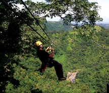 The adventure started with a demonstration on the zipline. // © 2011 Janeen Christoff