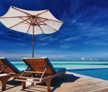 Caribbean Deck Chair Beach // © 2012 Thinkstock