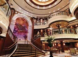 The new ship features a spacious atrium, a 6,000-book library and a museum // (c) Cunard