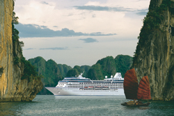 More cruise lines are sailing to exotic destinations like Vietnam. // (c) Hapag-Lloyd