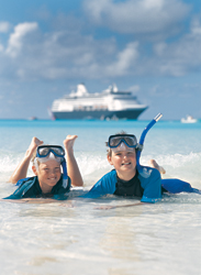 Cruise lines are encouraging families to spend more time together with shore excursions aimed specifically at them. // (c) Holland America Line