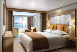 A rendering of a Veranda Suite aboard the new Seabourn Odyssey // (c) Yachts of Seabourn