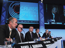 Cruise executives were optimistic about the future, while realistic about the economy. // (c) Andy Newman/CSM