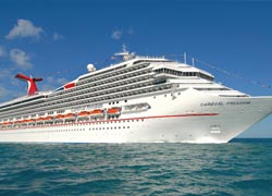 Cruise:  Booking volumes for Carnival Corporation are running above last year. // (C) 2010 Carnival Cruise Line