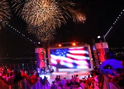The Norwegian Epic was the venue for Macy's Fourth of July Spectacular. // © 2010 Norwegian Cruise Line