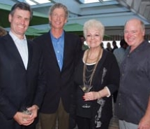 Left to right: Mark Kammerer of Virtuoso; Greg Nacco of Cruise Specialists; Phyllis Corliss of The Corliss Group; and Bill Knight of All Cruise...