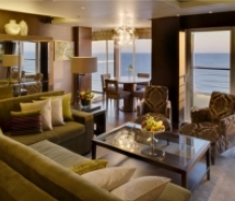 "<p align=""left"" class=""small_caption"">A view from the living room of the redesigned Crystal Penthouse onboard the Crystal Symphony // © 2010 Crystal..."