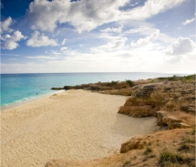 The beach on the Dutch side of the island, St. Maarten // © 2010 St. Maarten Tourist Bureau