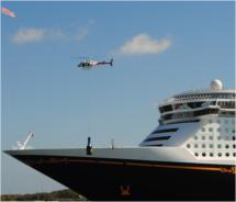 The inauguration of the Disney Dream // © 2010 Kenneth Shapiro