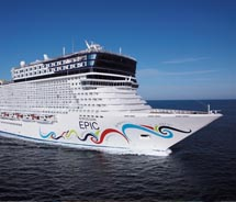 The Norwegian Epic can accommodate more than 4,000 passengers. // (C) 2010 Norwegian Cruise Line