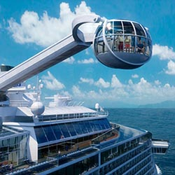 Royal Caribbean's new Quantum of the Seas will have several new features, including the Northstar Pod. // (c) 2013 Royal Caribbean International