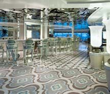 Crystal Symphony recently refurbished its public spaces, including the Palm Court lounge. // © 2012 Crystal Cruises