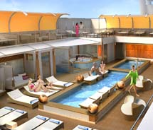 A rendering of The Haven on Norwegian Cruise Line's new Project Breakaway ships // © 2011 Norwegian Cruise Line