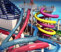 Norwegian Breakaway will debut the company's first Aqua Park at sea, one with five full-size water slides. // © 2012 Norwegian Cruise Line