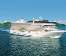 A rendering of Oceania's new ship, the Riviera // © 2012 Oceania Cruises