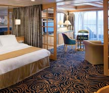 An Owner suite on Splendour of the Seas, which was one of the first Vision-class ships to be revitalized // © Royal Caribbean International