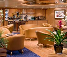 Members of Royal Caribbean International's loyalty clubs gain access to special lounges, services and events. // © 2011 Royal Caribbean International
