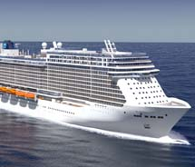 A rendering of Norwegian Cruise Line's Breakaway Plus © 2012 Norwegian Cruise Line