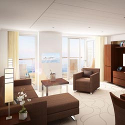 <div>Europa2 offers spacious accommodations. // © 2013 Hapag-Lloyd</div>