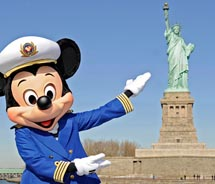 Mickey heads to New York, making it easier for families to take a Disney cruise. // © 2011 disney cruise line
