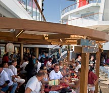 The poolside RedFrog Rum Bar debuts on Carnival Liberty. // © 2011 Carnival Cruise Line