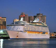 Voyager of the Seas is homeporting in New Orleans. // © 2011 Royal Caribbean Cruise Line