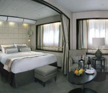 Wind Surf's staterooms feature new furnishings and amenities. // © 2012 Windstar Cruises