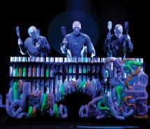 Blue Man Group on Norwegian // © 2012 Norwegian Cruise Line