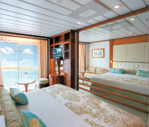 The renovation included upgrades to public spaces as well as staterooms. // © 2012 Paul Gauguin Cruises/ tim-mckenna.com