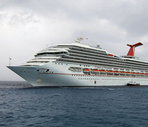 The Carnival Triumph arrived in Mobile, Ala., on Feb. 15. // © 2013 Carnival Cruise Line