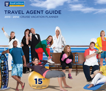 The Cover of Royal Caribbean's TAG features 15 travel agents. // © 2013 Royal Caribbean International